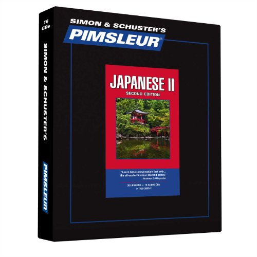 Pimsleur Japanese Level 2 CD: Learn to Speak and Understand Japanese with Pimsleur Language Programs (Comprehensive)