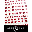 Valentines Day Nails Lips and Xoxo Stickers Decals (Red)