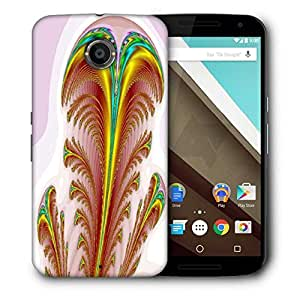Snoogg Feather Printed Protective Phone Back Case Cover For LG Google Nexus 6