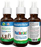 Dog Anxiety Pet Relief, Best Anti Separation Anxiety In Dogs, 100% Natural, Lifetime Warranty! 30ml Effective For Anxiety, Barking, Obsessive Licking, Aggression Storms & More. Best Value, Made In USA
