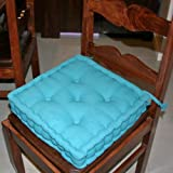 Dining Chair Booster Cushion Teal Cotton