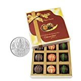 Chocholik Belgium Chocolates - 9pc Ultimate Assorted Collection Of Chocolate With 5gm Pure Silver Coin - Gifts...