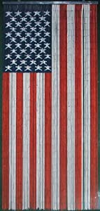 American Flag Beaded Curtain 125 Strands Hanging Hardware Home Kitchen