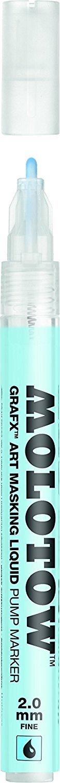 Molotow GRAFX Masking Fluid Pump Marker, 2mm, 1 Each (728.001) (2 Pack) (Tamaño: 2 Pack)