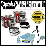 Opteka 0.45x Wide Angle & 2.2x Telephoto HD² Pro Lens Set for Kodak EasyShare Z650, Z740, Z710, Digital Camera