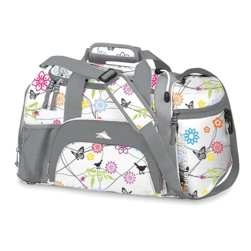 High Sierra Switch Blade Sport Duffel Bird on Wire/Cerise