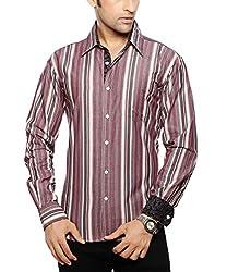 Moksh Men's Striped Casual Shirt V2IMS0414-254 (Medium)