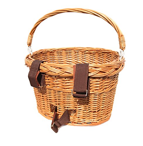 Wicker Bicycle Basket With Handle : Colorbasket adult front handlebar wicker bike basket with
