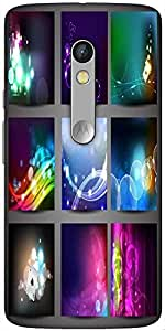 Snoogg Creative Abstract Background Set Designer Protective Back Case Cover For Motorola Moto X Play