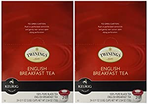 Twinings English Breakfast Tea, K-Cup Portion Pack for Keurig K-Cup Brewers 24-Count (Pack of 2) from Twinings