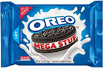 Oreo Mega Stuf Chocolate Cookies, 13.2 Ounce