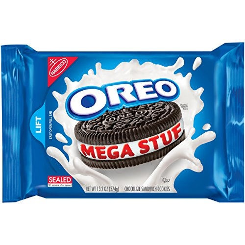 Oreo Mega Stuf Chocolate Cookies, 13.2 Ounce