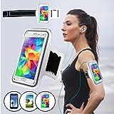 SAVFY® Brassard Armband Sport pour Samsung Galaxy S3 / S4 / S5 / S6 / S6 edge IPhone 4 4S 5 5S 5C 6 6 Plus pour le Jogging / Gym / Sport - 6 Couleurs au choix