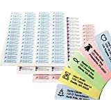 Return Address Labels - 500 Personalized Labels on Sheets (Multi-Color)