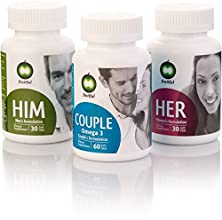 buy Personalized Bundle Of 5 Fruitful For Male & Female Fertility Prenatal Vitamins. Package Provides Three Dedicated Formulas, For Him, For Her And For Couple. Includes App, Blog & Fertility Supplement