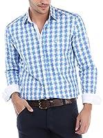 RNT23 Camisa Hombre (Azul / Blanco)
