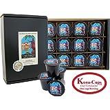 12 K-cups of Dark Roast, Kona Smooth Kings Reserve Kona Hawaiian Blend Coffee, for K-cup Brewing