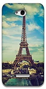 The Racoon Lean Paris hard plastic printed back case / cover for HTC Desire 616