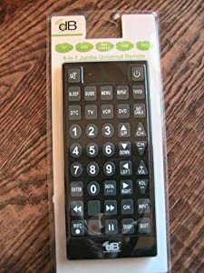 Decibel Electronics 8-In-1 Jumbo Universal Remote New! Never Opened! DTV Ready