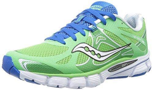 Saucony Women's Mirage 4 Running Shoe,Green/Blue,7.5 M US