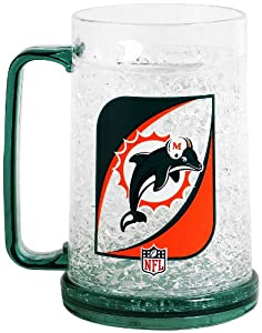 NFL Miami Dolphins 36-Ounce Crystal Freezer Monster Mug by Duck House