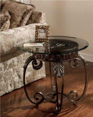 Cheap Signature Design by Ashley Tullio Round End Table (T399-6)