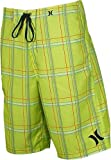 Hurley Mens Puerto Rico Supersuede Boardshort, Neon Yellow, 32