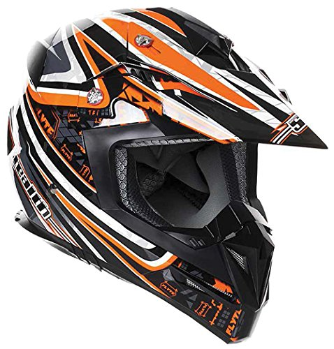 New Stealth Motorcycle Helmet Hd210 MX Orange Droid