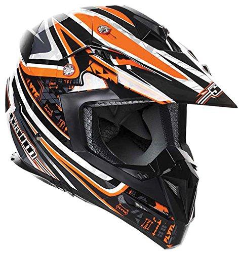 New Stealth Motorcycle Helmet Hd210 MX Orange Droid