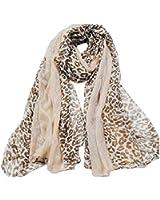 Kobwa(TM) New Noble Lady Chain Leopard Print Soft Long Wrap Shawl Paris Yarn Scarf With Kobwa's Keyring