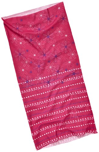 Lassig Twister Sweat Wicking Multi Use Scarf, Dotted Flower, Red - 1