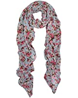 Elegant Floral Print Fashion Scarf Wrap - Different Colors Available