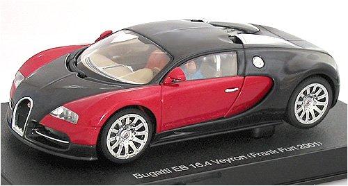 AUTOart 1/32 スロットカー ブガッティ EB 16.4 ヴェイロン (ブラック・レッド)