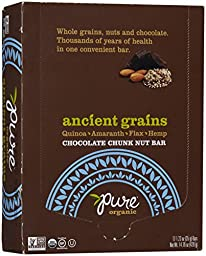 Pure Bar Nut Bars - Ancient Grains Chocolate - 1.23 oz - 12 ct