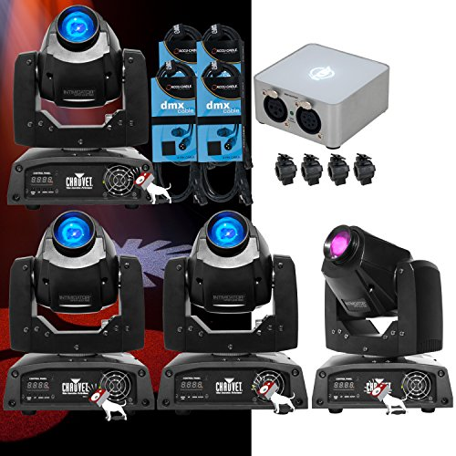 Chauvet Intimidator 150 Led Moving Head (4) & Adj Mydmx 2.0 Software + Cables + O-Clamps
