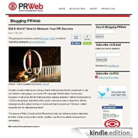 Blogging PRWeb