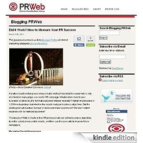 Blogging PRWeb