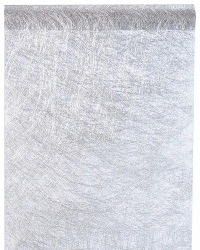 SANTEX 70004-4 - Chemin de table Fanon métallisé argent