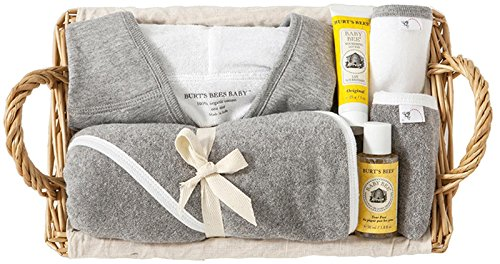 Burt's Bees Baby Organic Better Bathtime Basket, Heather Grey