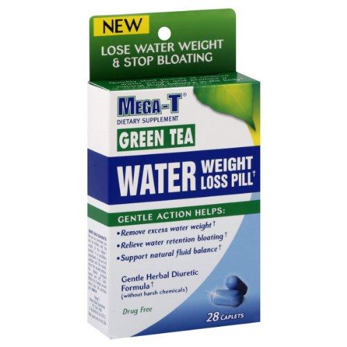 Mega-T Water Weight Loss Pill, Green Tea, Caplets, 28 ct.