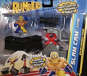 WRESTLING REY MYSTERIO W/ SLAM CAM PLAYSET - WWE RUMBLERS TOY WRESTLING ACTION FIGURE PLAYSET