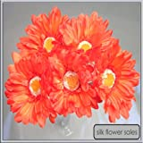 X5 single stem orange gerbera artificial silk