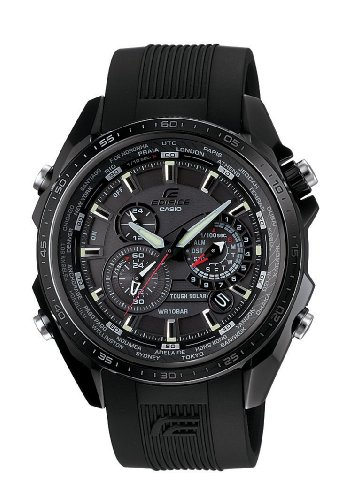Casio Men's Edifice Solar Powered Analogue Watch EQS-500C-1A1ER With Resin Strap
