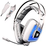E-SDS SADES A8 Wired USB Vibration 7.1 Surround Sound Stereo Over The Egaming Headphones With High Sensitivity...
