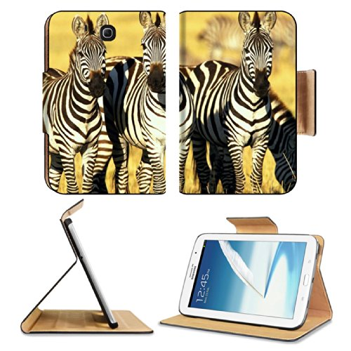Animal Zebra Wildlife Calf Feeding Pattern Baby Africa Grassland Black White Samsung Galaxy Note 8 Gt-N5100 Gt-N5110 Gt-N5120 Flip Case Stand Magnetic Cover Open Ports Customized Made To Order Support Ready Premium Deluxe Pu Leather 8 7/16 Inch (215Mm) X front-1030232