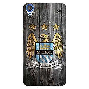 Jugaaduu Manchester City Back Cover Case For HTC Desire 820 Dual Sim