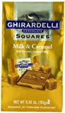 Ghirardelli Chocolate Squares, Milk Chocolate with Caramel Filling, 5.32-Ounce Bags (Pack of 6)