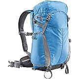 Mantona Elements Outdoor-Rucksack (mit herausnehmbarer Kameratasche für DSLR-Kamera inkl. Regenhülle/Laptopfach/Stativhalter) blau