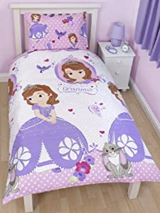 Character World 135 x 200 cm Disney Sofia The First Amulet Single Rotary Duvet Set, Multi-Color