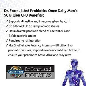 Garden of Life Probiotic Bundle: Dr. Formulated Once Daily Women's & Men's Probiotics, 50 Billion CFU Shelf Stable, Non-GMO Probiotic for Men & Women with Prebiotic Fiber, 30 Capsules Each